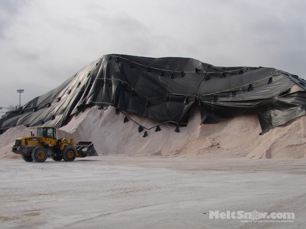 Bulk salt pile Boston