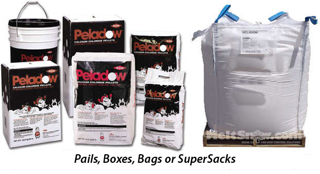 PelaDow in all forms: pails, Boxes, Bags and SuperSacks
